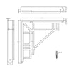Dimension drawing for art deco shelf bracket