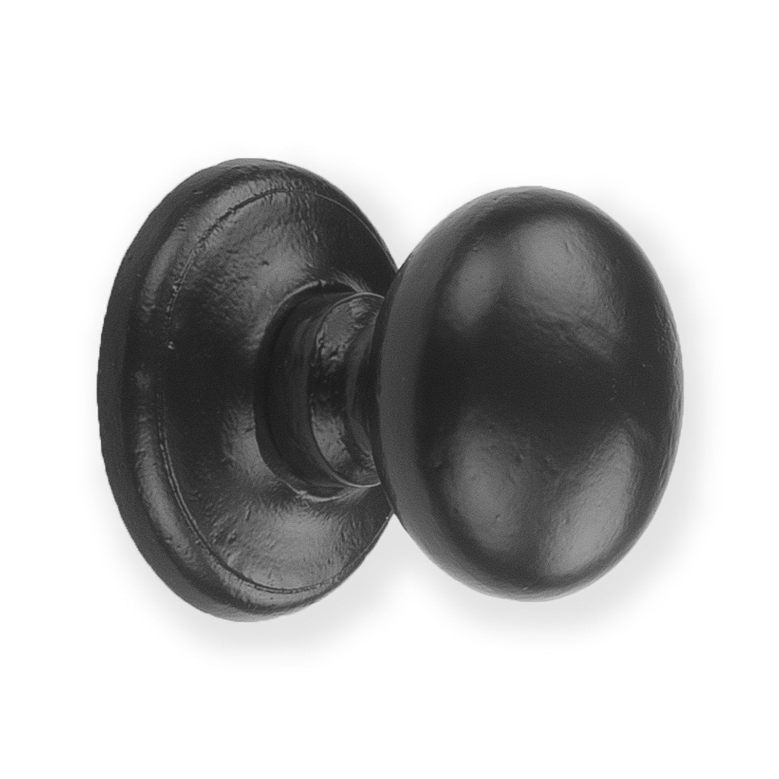 Centre Door Knob Pull | Smooth Black Cast Iron | Front Door Hardware ...