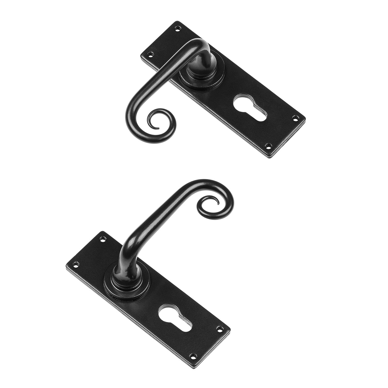 Curl Euro Profile Lock Door Handles