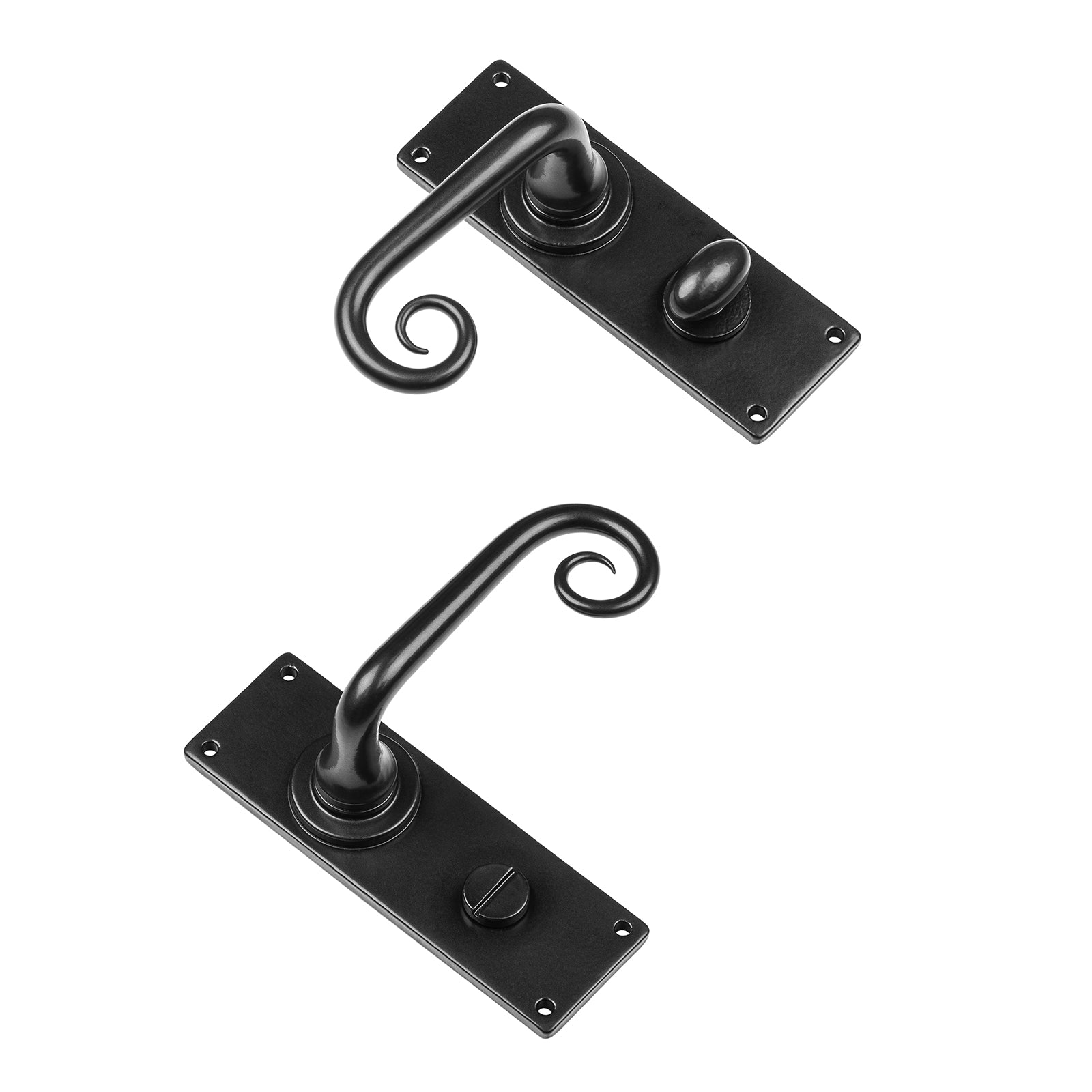 Curl Bathroom Lock Door Handles