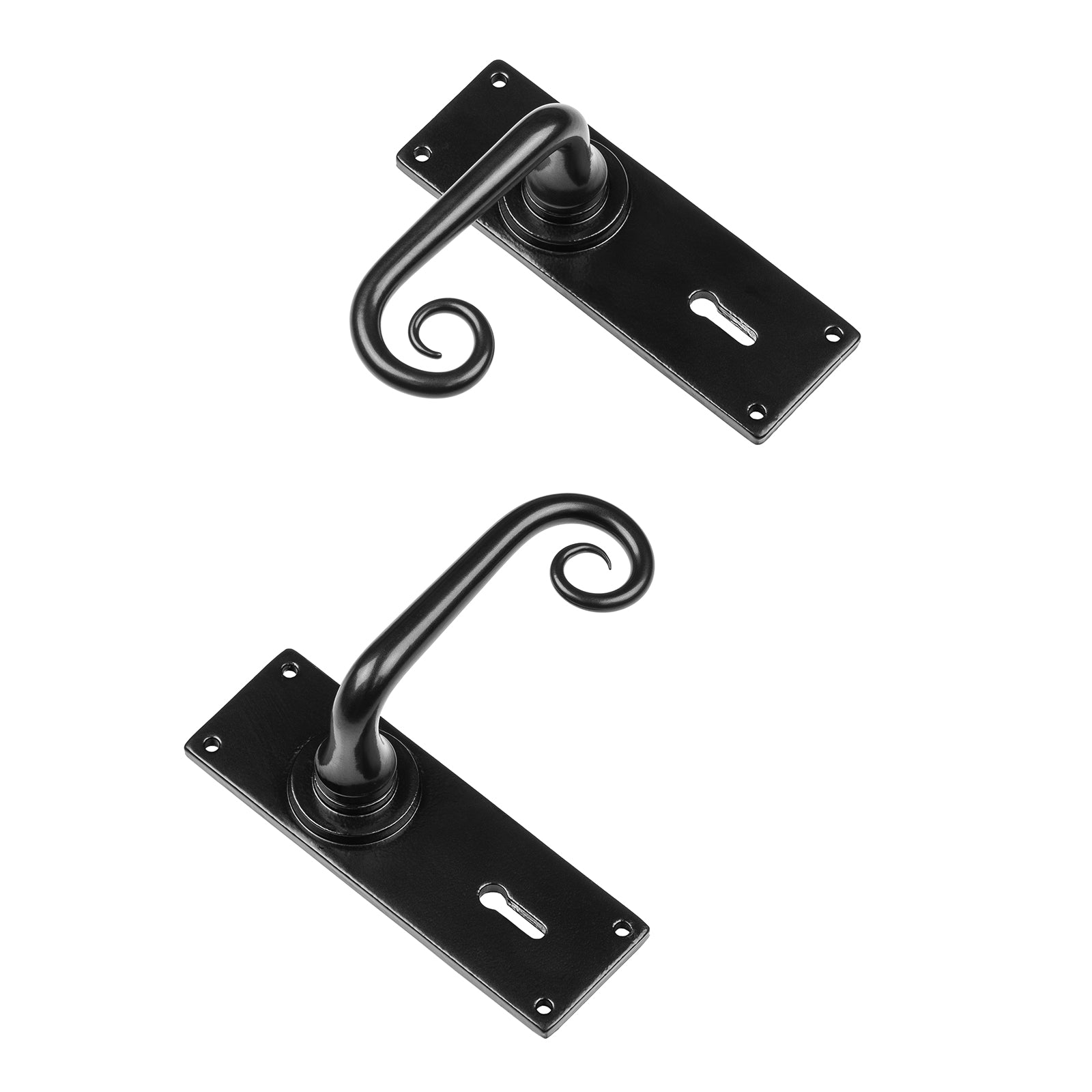 Curl Door Handles British standard Lock profile