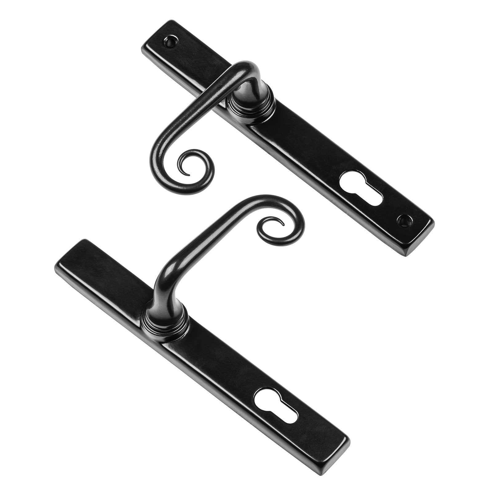 Curl multipoint sprung door handle SHOW