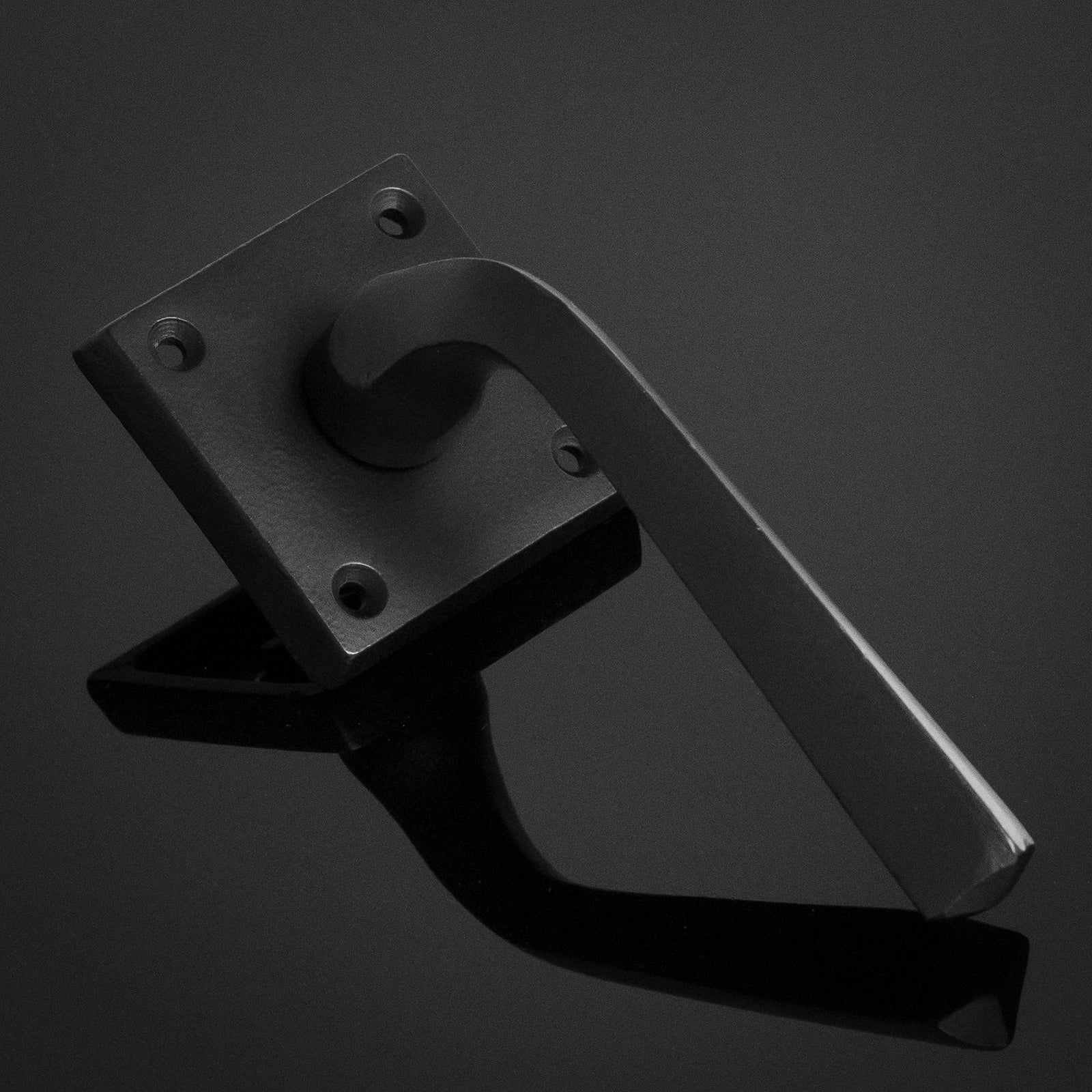 Black lever on rose door handle SHOW