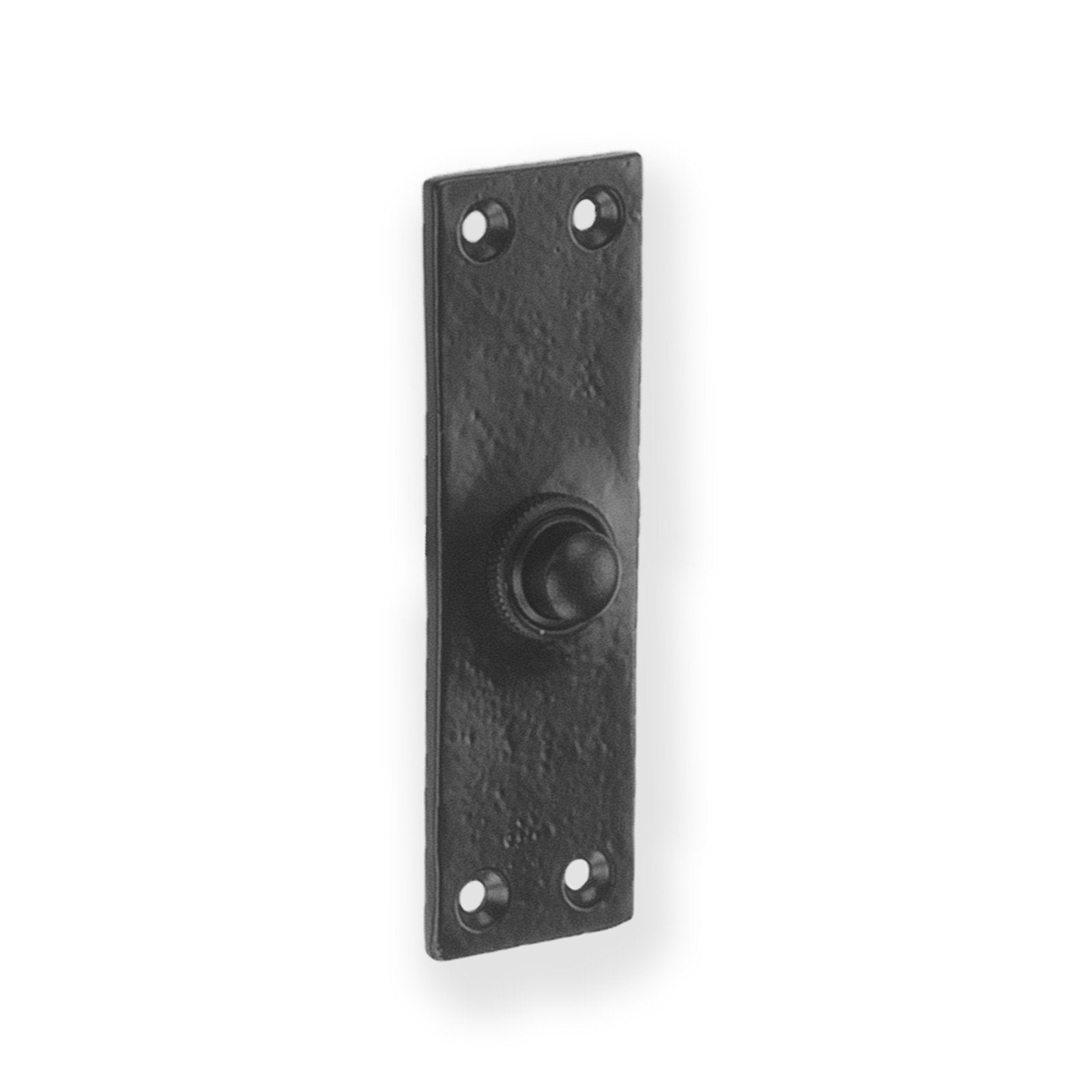 Door Bell Plate Black Cast Iron