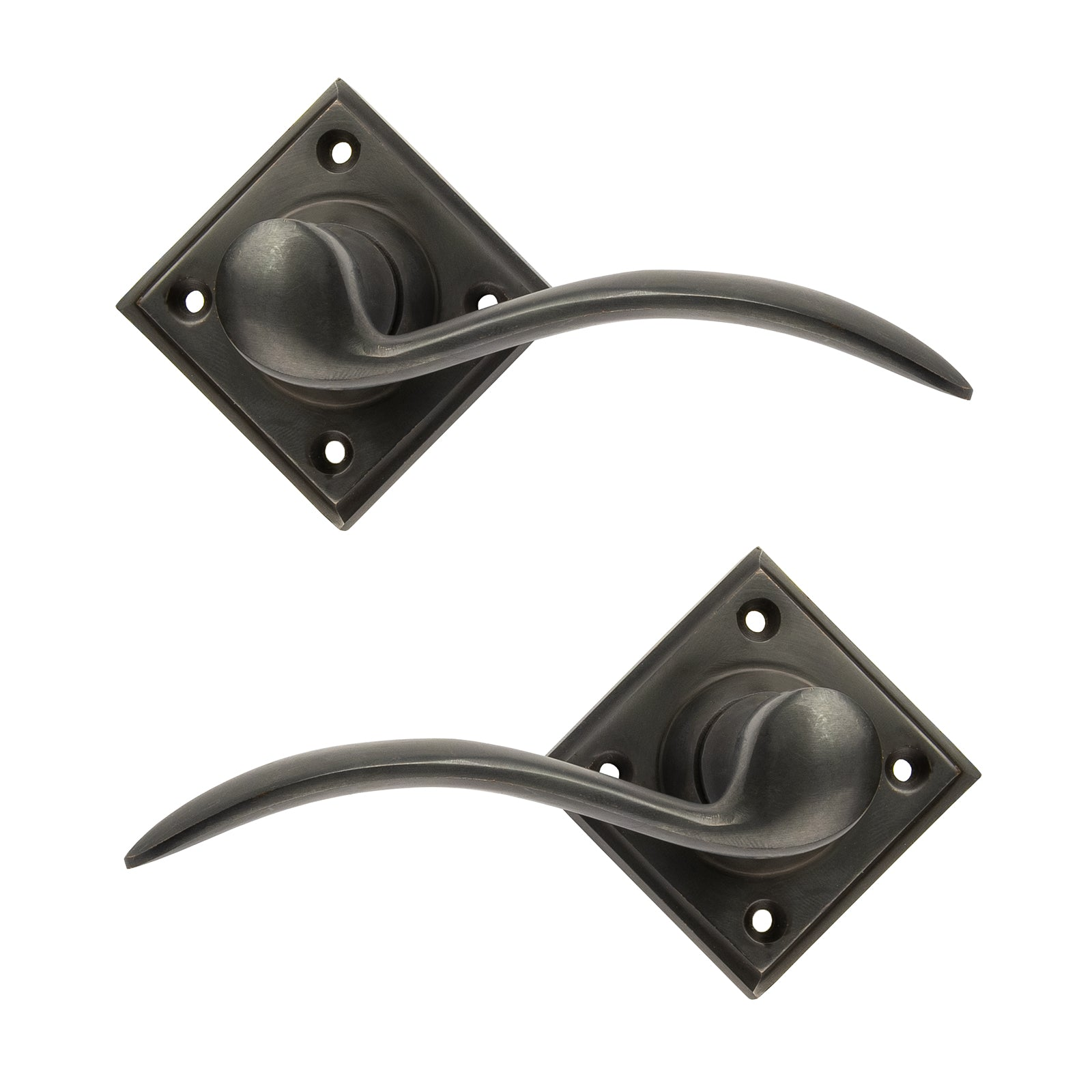 Fly Lever on Rose Bronze Door Handles