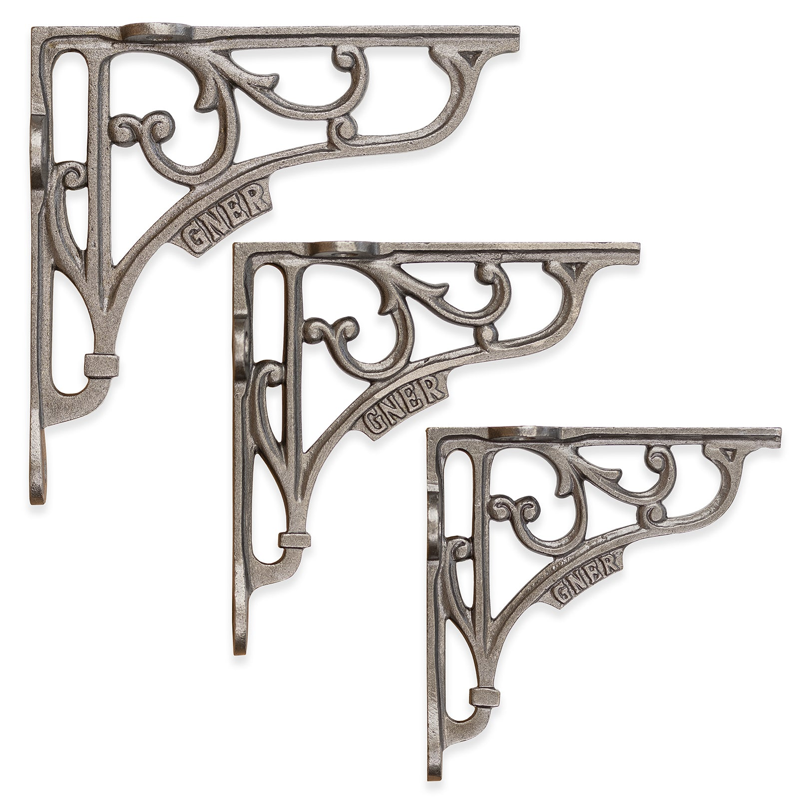 Cast Iron Shelf Brackets With GNER Logo 5, 6 & 7 Inch