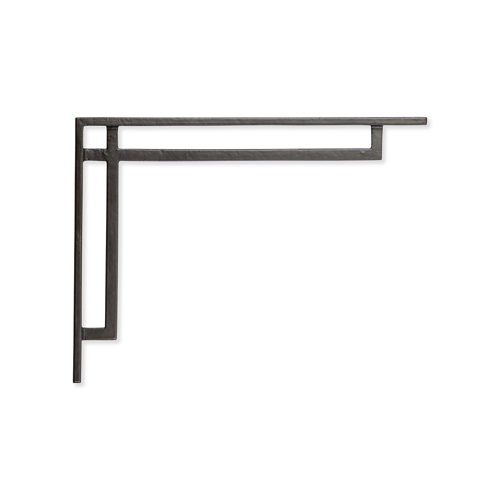 Art Deco Narrow Shelf Bracket Black