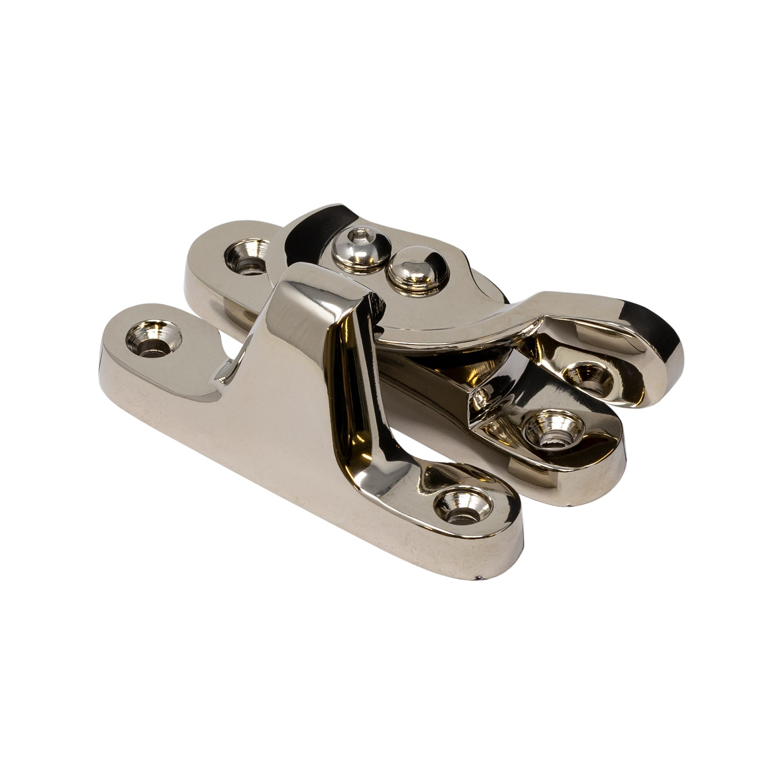 Fitch Sash Window Fastener in Polished Nickel Finish SHOW
