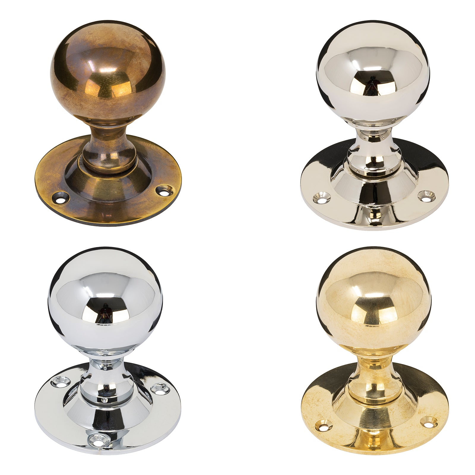 Round Brass Door Knobs