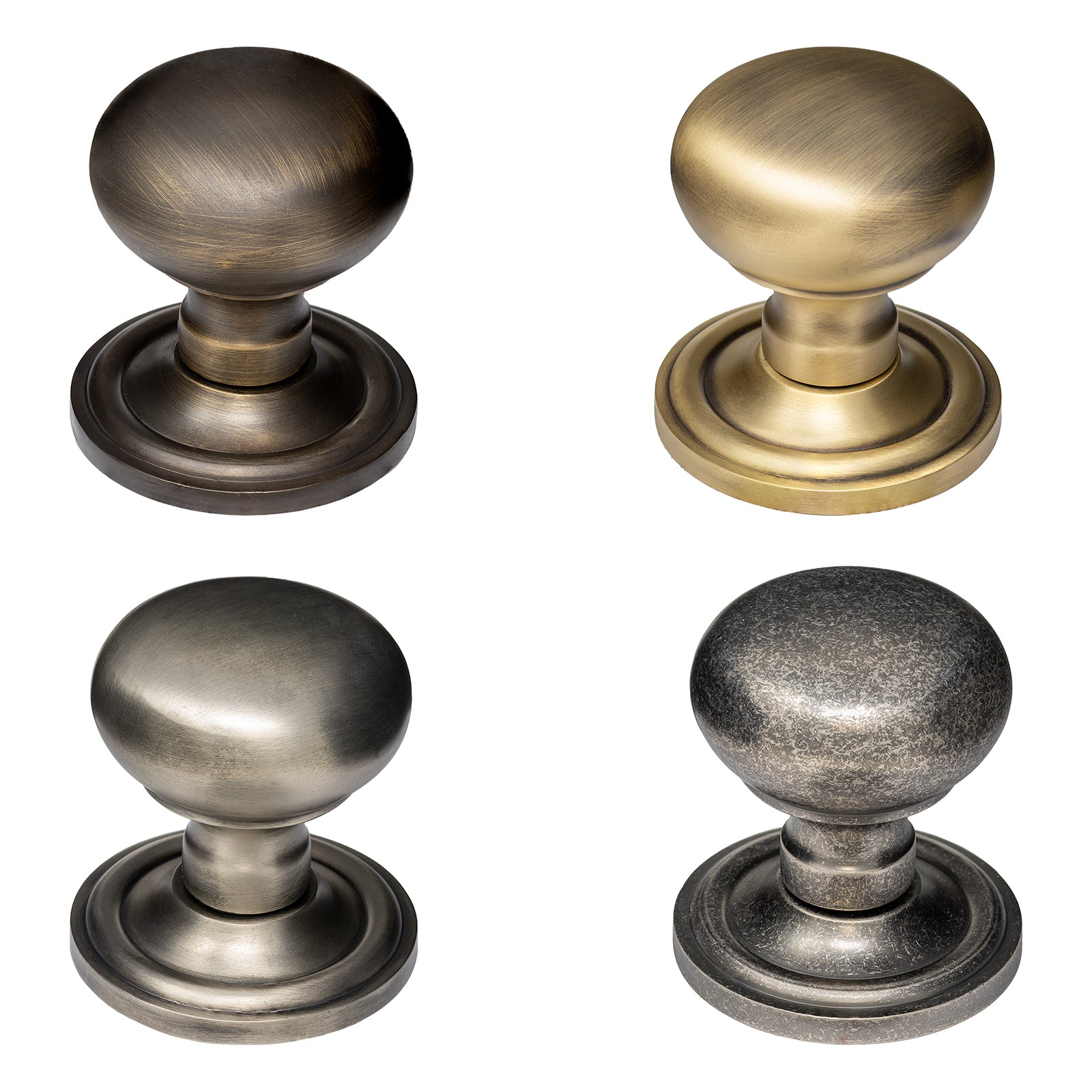 Solid Brass Mushroom Door Knobs Old English Collection