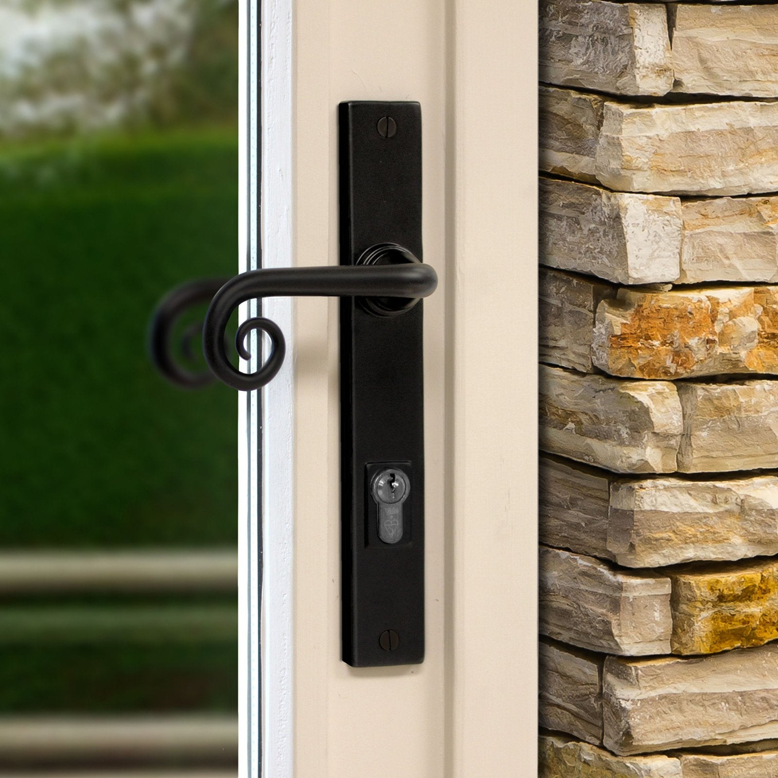 Multipoint Black door handle SHOW