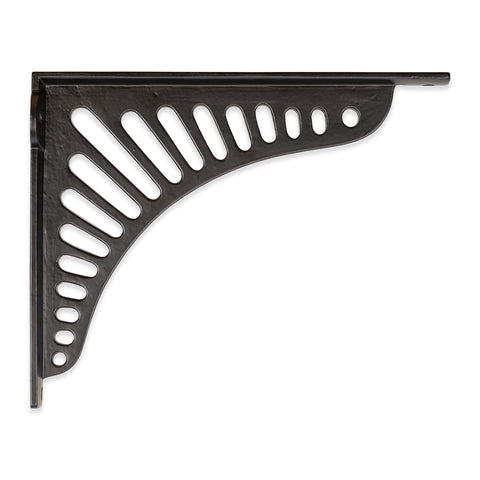 Black Cast iron Shelf Cister Bracket Sunrise Design