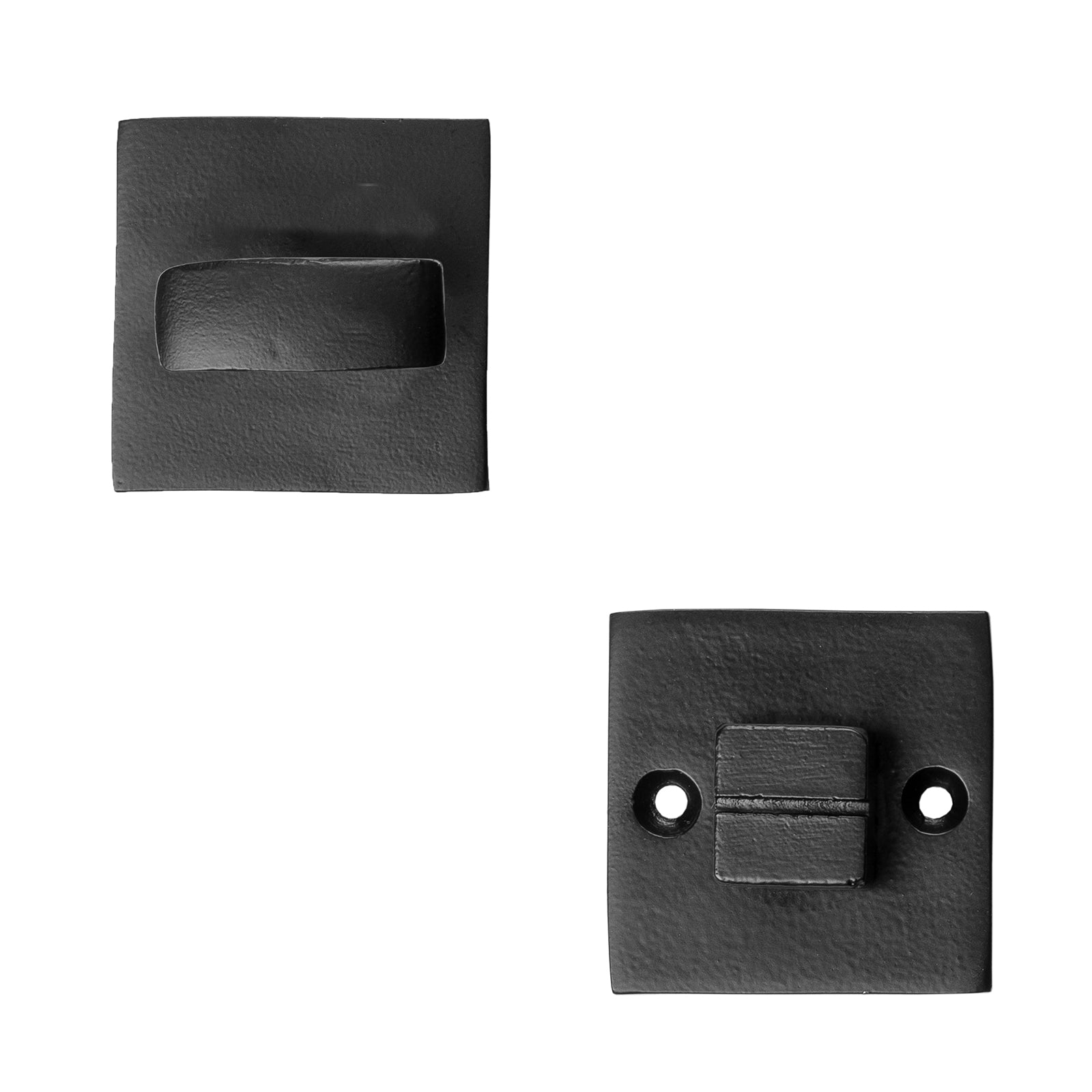 Square Black Cast Iron Bathroom Turn & Release