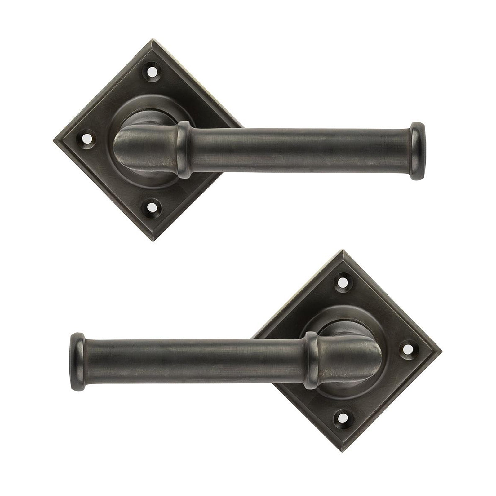 Turned Lever on Rose Bronze Door Handles