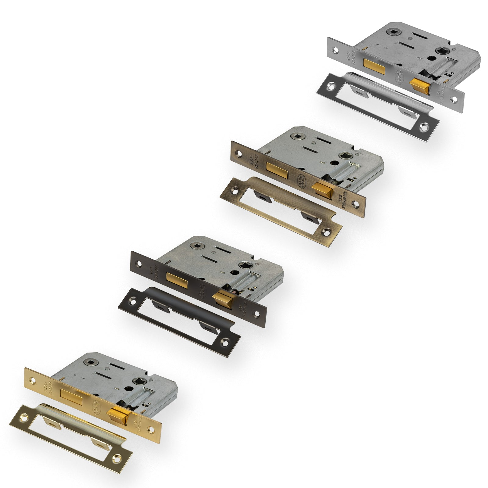 Bathroom Mortice Sash Locks in four finishes