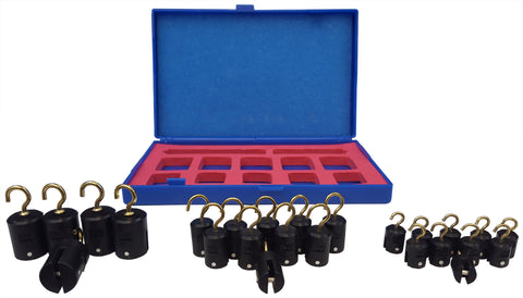 Hooked Weight Set, Plastic, Twenty-Five-Piece
