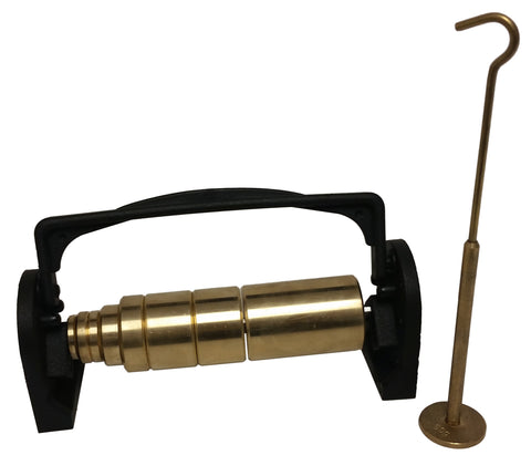Slotted Weight Set, Brass, Eight-Piece