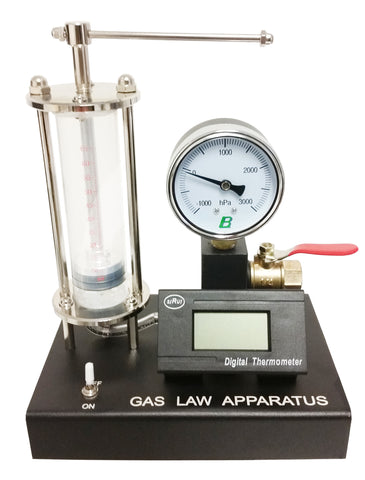Gas Law Deluxe with Pressure and Temperature Gauge