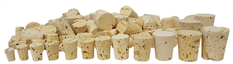 Assorted Cork Stopper Set of 100 Stoppers Sizes #0 Through #11