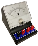 Voltmeter with a range of 0V to 3V, 0V to 15V, and 0V to 300V