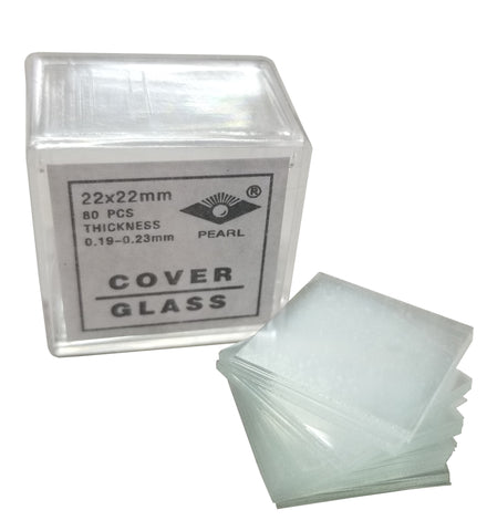 Microscope Cover Slips, Size #2 Thickness, 22mm by 22mm