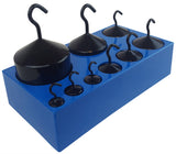 Hooked Weight Set, Powder-Coated Cast-iron, Nine-Piece