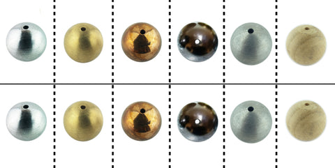 Physics Balls Set - Drilled Balls with Container