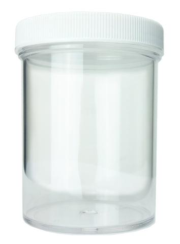 8oz wide-mouth polystyrene jar with lid