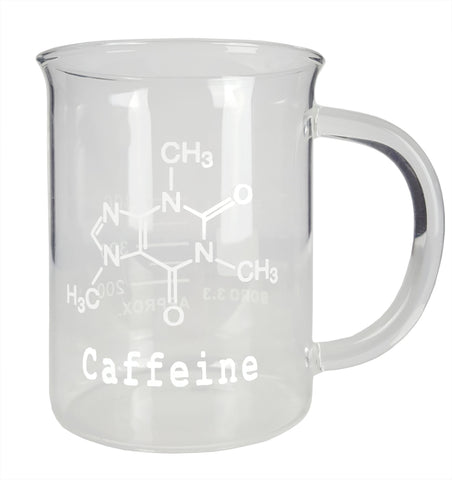 Beaker Coffee Mug with Caffeine Symbol, 500ml