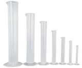 Polypropylene Graduated Cylinder with Hex Base