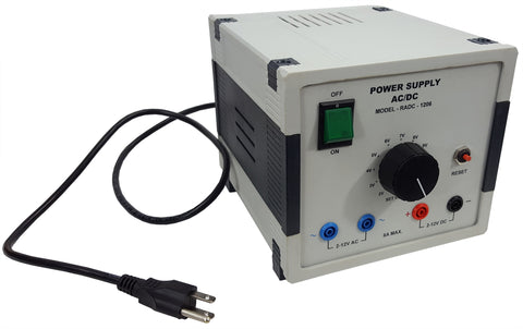 AC/DC Variable Power Supply, 2V to 12V
