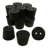 Rubber Stoppers, 2-Hole