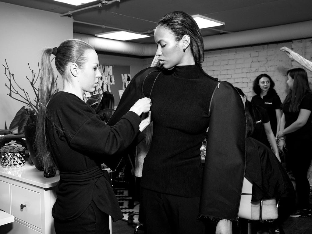 Backstage: DZHUS Tectonic at Ukrainian Fashion Week