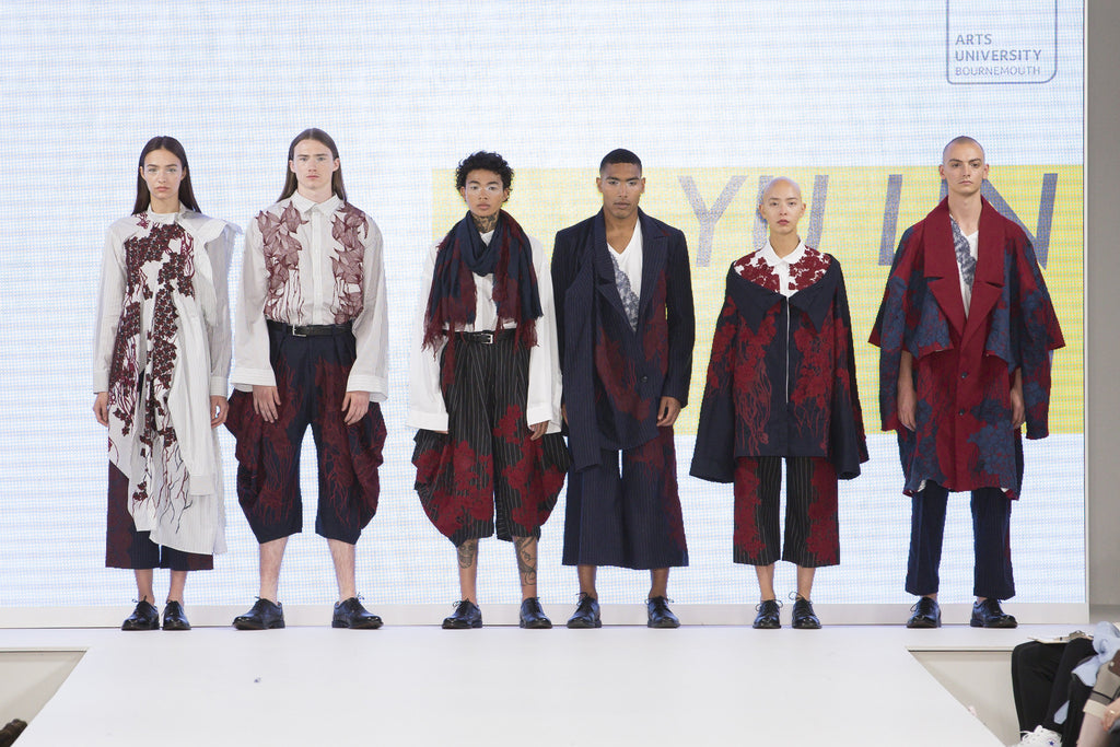 Graduate Fashion Week 2017: Arts University Bournemouth Yu Lin Fu - Erebus