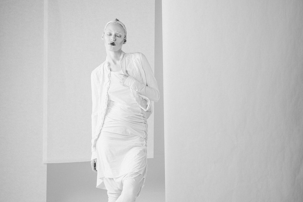 Emerging unisex avant-garde fashion label Pal Offner Spring Summer 2017 collection - Erebus