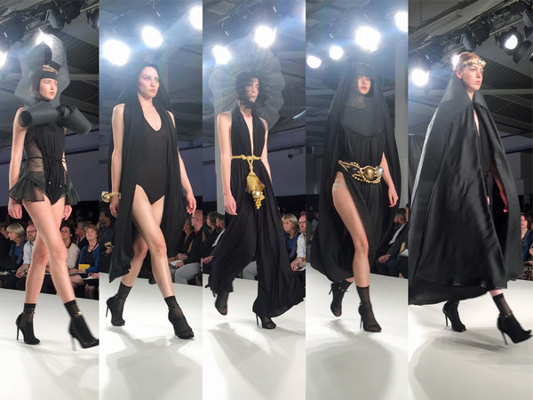University of Creative Arts UCA Epsom Graduate Fashion Week Chloe Le Brett - Erebus
