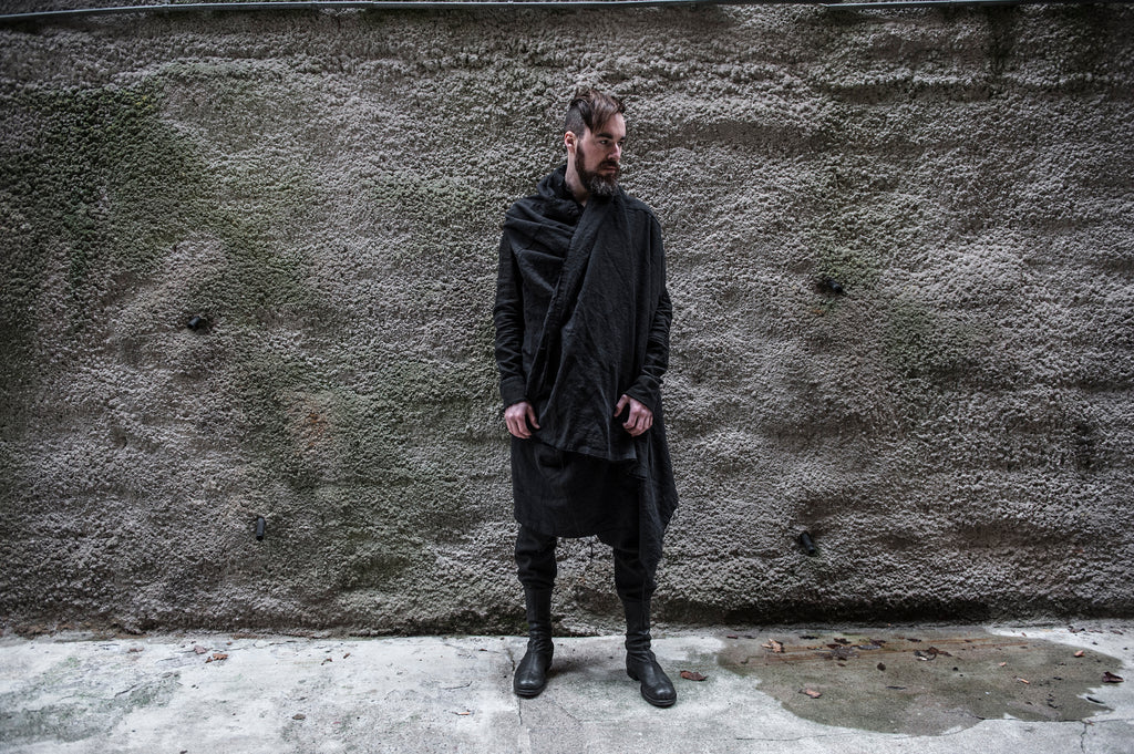 Emerging slow fashion menswear brand Atelier Aura Autumn Winter 2017 - Erebus