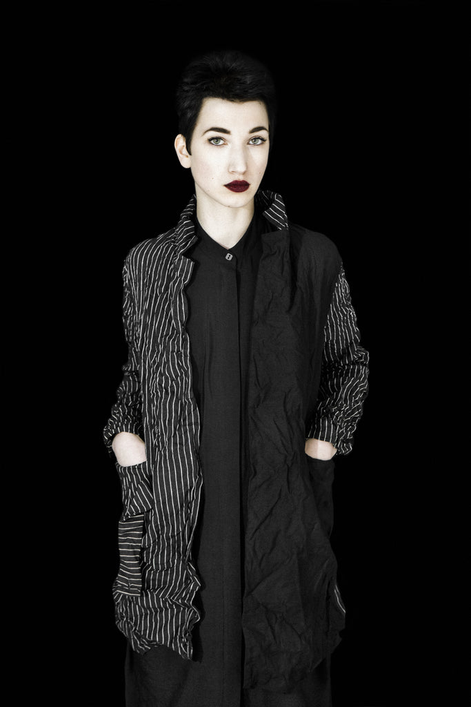 Emerging monochrome conceptual womenswear designer Susa Kreuzberger Take Your Pleasure Seriously SS17 - Erebus