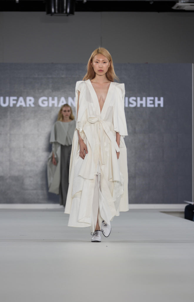 Graduate Fashion Week 2017: Ravensbourne Niloufar Ghanaat Pishen Photo by Claire Mcintyre - Erebus