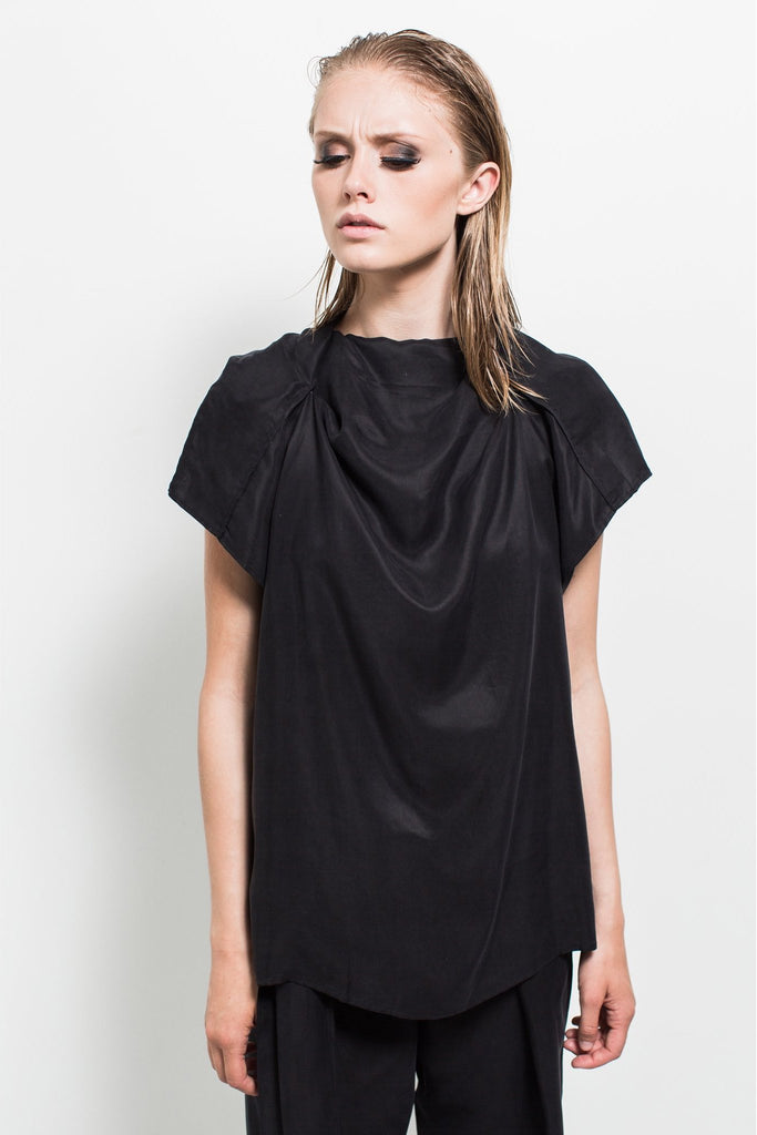 Shop Emerging Contemporary Womenswear brand Too Damn Expensive Drape T at Erebus