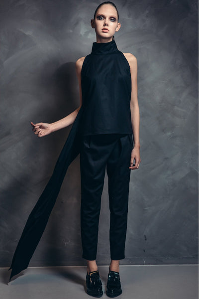 Shop Emerging Contemporary Womenswear brand Too Damn Expensive Wrap Front Trousers at Erebus