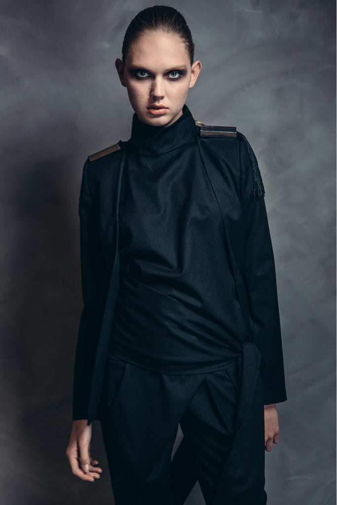 Shop Emerging Contemporary Womenswear brand Too Damn Expensive Open Jacket at Erebus
