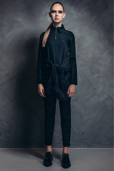 Shop Emerging Contemporary Womenswear brand Too Damn Expensive Wool Shirt at Erebus