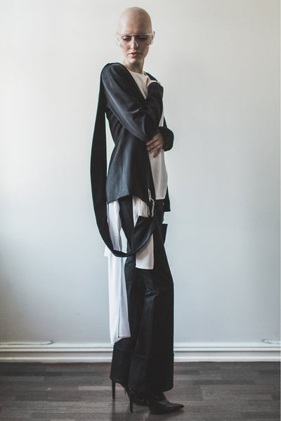 Shop Emerging Contemporary Womenswear brand Too Damn Expensive Strap Blazer at Erebus