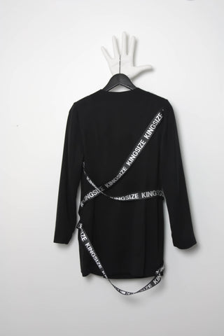 Shop Emerging Contemporary Conscious Womenswear Brand Too Damn Expensive Black Short Blazer Dress at Erebus