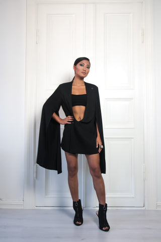 Shop Emerging Contemporary Urban Conscious Womenswear Brand Too Damn Expensive Black Dress Jacket at Erebus