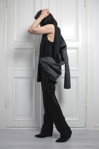Shop Emerging Contemporary Conscious Womenswear Brand Too Damn Expensive Strong Shoulder Jacket at Erebus