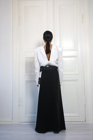 Shop Emerging Contemporary Urban Conscious Womenswear Brand Too Damn Expensive Black Half Skirt at Erebus