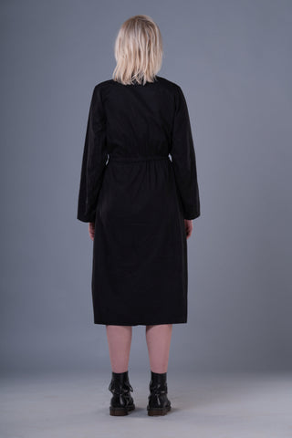 Shop Emerging Dark Conceptual Brand Anagenesis Black Strand Kimono Jacket at Erebus