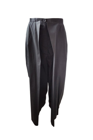 Shop Emerging Contemporary Womenswear Brand Studio Karro Black Layered Trousers at Erebus
